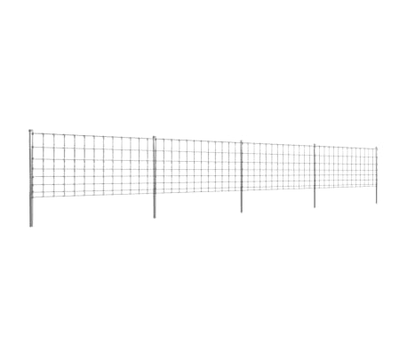 vidaXL Step-In Fence 50 m with Post Galvanized Wire Fence 100/8/30[1/8]