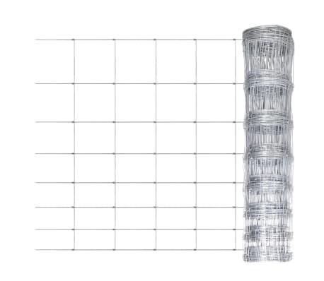 50m gartenzaun wildzaun verzinkt mit pfosten 100 6 30 g nstig kaufen. Black Bedroom Furniture Sets. Home Design Ideas