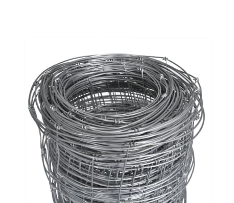 vidaXL Step-In Fence 50 m with Post Galvanized Wire Fence 100/8/30[4/8]