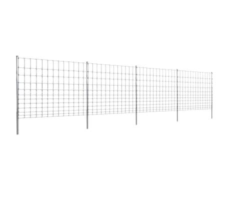 50m gartenzaun wildzaun verzinkt mit pfosten 150 12 30 g nstig kaufen. Black Bedroom Furniture Sets. Home Design Ideas