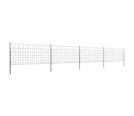 50m gartenzaun wildzaun verzinkt mit pfosten 100 8 15 g nstig kaufen. Black Bedroom Furniture Sets. Home Design Ideas