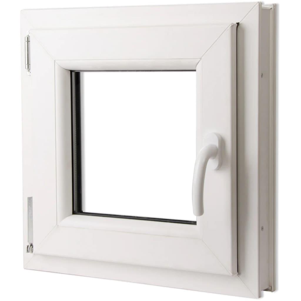 Otevíravě-sklopné okno, dvojité sklo, PVC, klika vpravo, 500x500mm