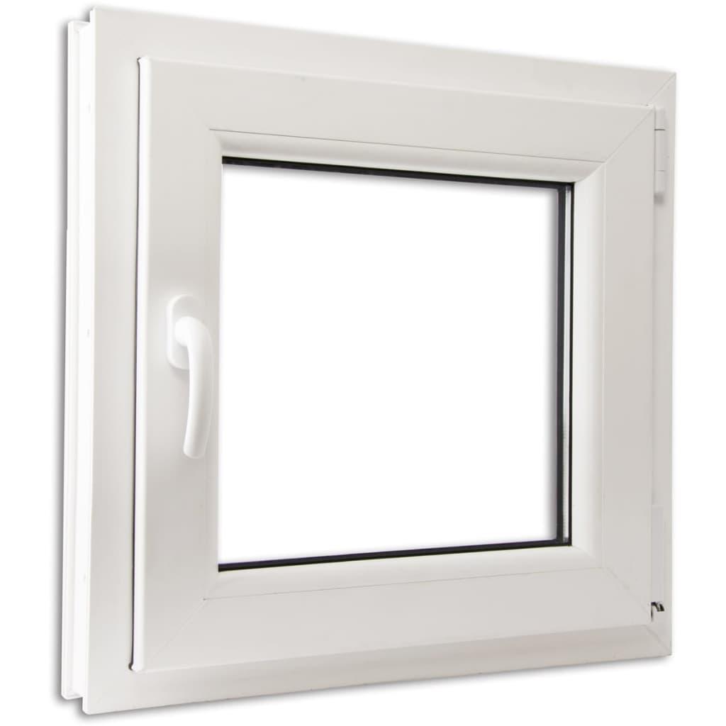 Fereastră batantă PVC 2 foi de sticlă cu mâner pe stânga 600 x 600 mm vidaxl.ro