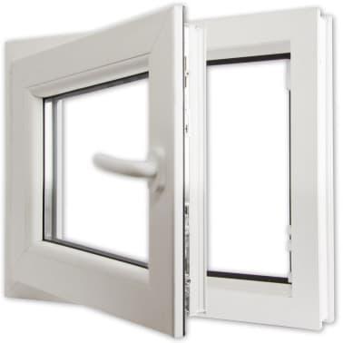 2 fach verglast drehkippfenster pvc rechtsseitig griff 600x600mm g nstig kaufen. Black Bedroom Furniture Sets. Home Design Ideas