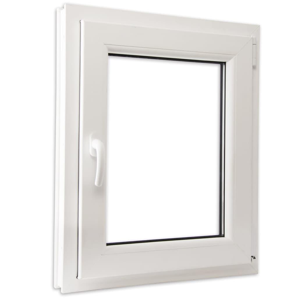Otevíravě-sklopné okno, dvojité sklo, PVC, klika vlevo, 600 x 800 mm