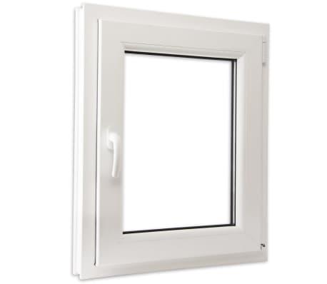 Fen tre oscillo battant en pvc double vitrage poign e for Stock finestre pvc