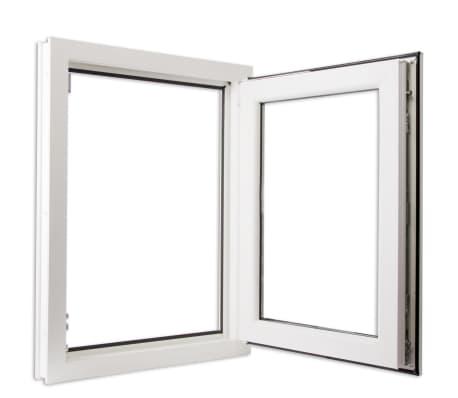 acheter fen tre oscillo battant en pvc double vitrage poign e gauche 600x900mm pas cher. Black Bedroom Furniture Sets. Home Design Ideas