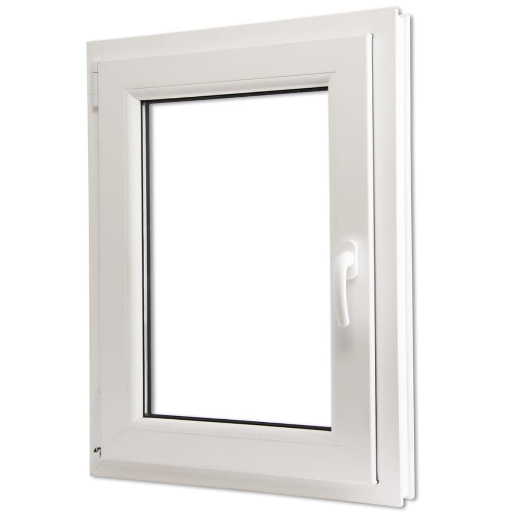 Otevíravě-sklopné okno, dvojité sklo, PVC, klika vpravo, 600x900mm