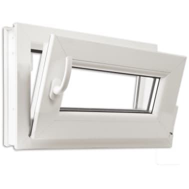2 fach verglast drehkippfenster pvc linksseitig griff 600x400mm g nstig kaufen. Black Bedroom Furniture Sets. Home Design Ideas