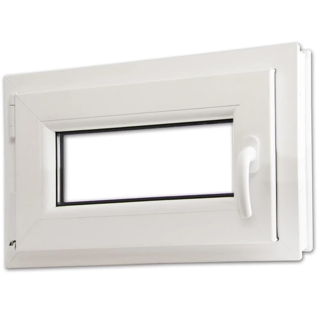 Otevíravě-sklopné okno, dvojité sklo, PVC, klika vpravo, 600x400mm