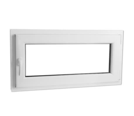PVC okno dvojna zasteklitev ročka na levi800x400mm vrtljivo in nagib[1/9]