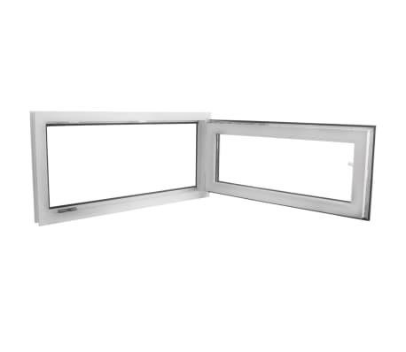 PVC okno dvojna zasteklitev ročka na levi800x400mm vrtljivo in nagib[4/9]