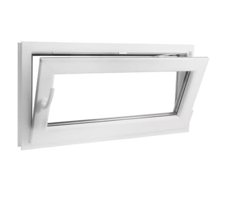 PVC okno dvojna zasteklitev ročka na levi800x400mm vrtljivo in nagib[5/9]