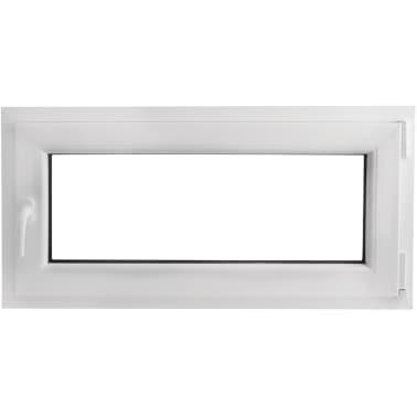 PVC okno dvojna zasteklitev ročka na levi800x400mm vrtljivo in nagib[2/9]