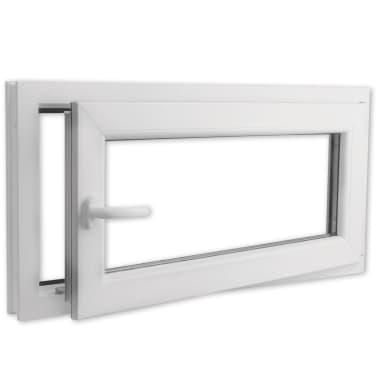 PVC okno dvojna zasteklitev ročka na levi800x400mm vrtljivo in nagib[3/9]