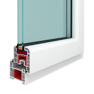 PVC okno dvojna zasteklitev ročka na levi800x400mm vrtljivo in nagib[7/9]