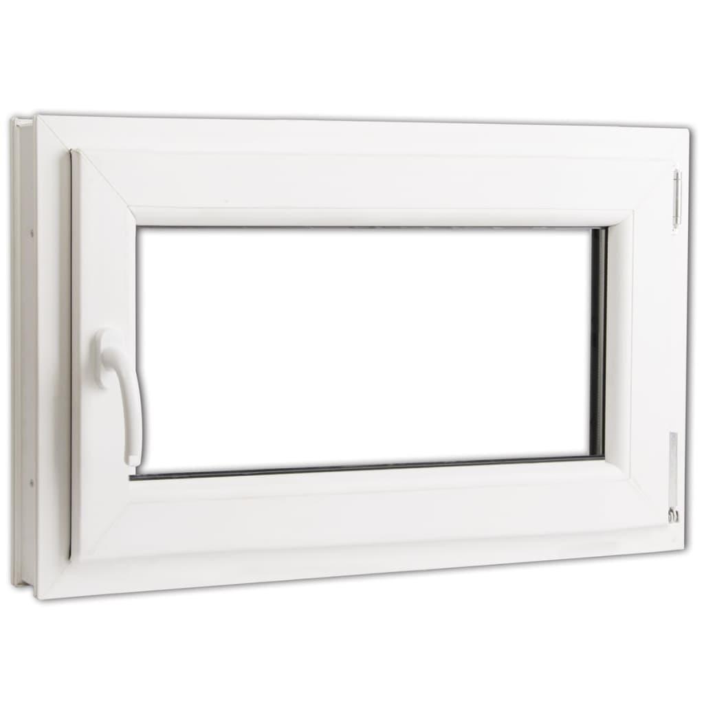 Otevíravě-sklopné okno, dvojité sklo, PVC, klika vlevo, 800 x 500mm