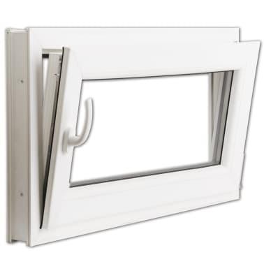 2 fach verglast drehkippfenster pvc linksseitig griff 800x500mm zum schn ppchenpreis. Black Bedroom Furniture Sets. Home Design Ideas