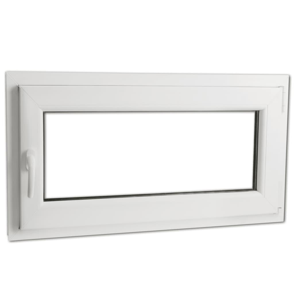 Fereastră batantă PVC 2 foi de sticlă cu mâner pe stânga 900 x 500 mm vidaxl.ro
