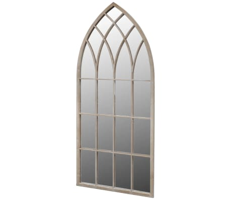 vidaXL Gothic Arch Garden Mirror 50x115 cm for Indoor and Outdoor Use-picture