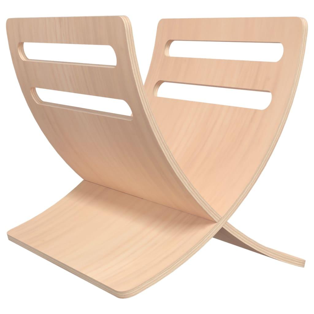 Afbeelding van vidaXL Tijdschriftenrek staand hout