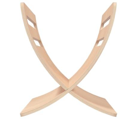 vidaXL Revistero de madera de suelo color natural[6/7]