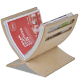 vidaXL Wooden Magazine Rack Floor Standing Natural