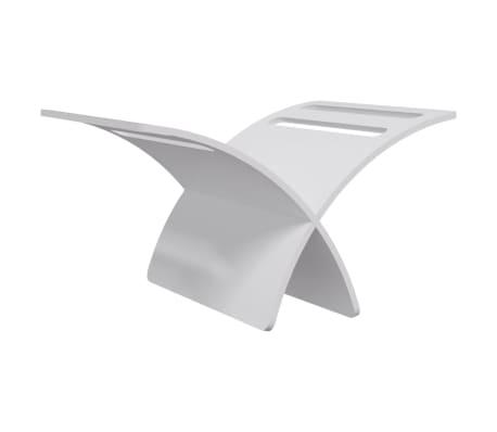 vidaXL Suport din lemn pentru reviste, vertical, alb[7/7]
