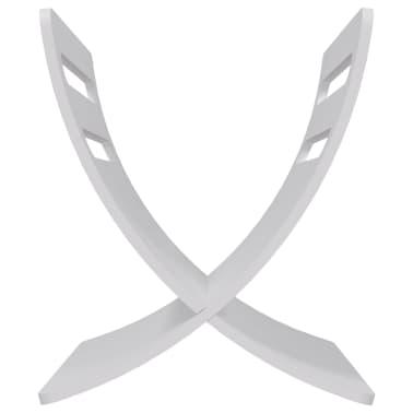 vidaXL Suport din lemn pentru reviste, vertical, alb[6/7]