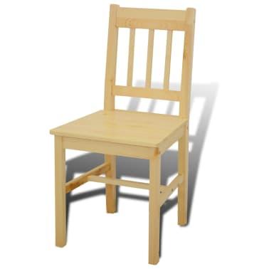 Houten eetkamertafel met vier stoelen (naturel)[5/8]