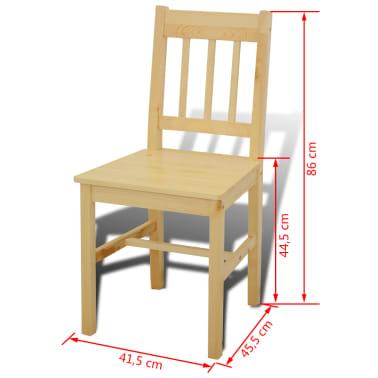 Houten eetkamertafel met vier stoelen (naturel)[8/8]