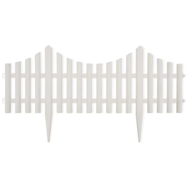 White Lawn Divider 17 pcs 32.8 ft[2/8]