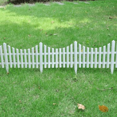 White Lawn Divider 17 pcs 32.8 ft[3/8]
