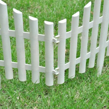 White Lawn Divider 17 pcs 32.8 ft[4/8]