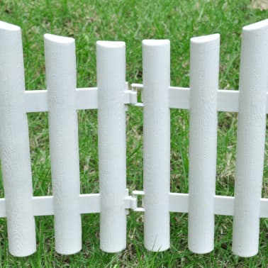 White Lawn Divider 17 pcs 32.8 ft[5/8]