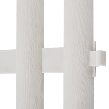 White Lawn Divider 17 pcs 32.8 ft[7/8]