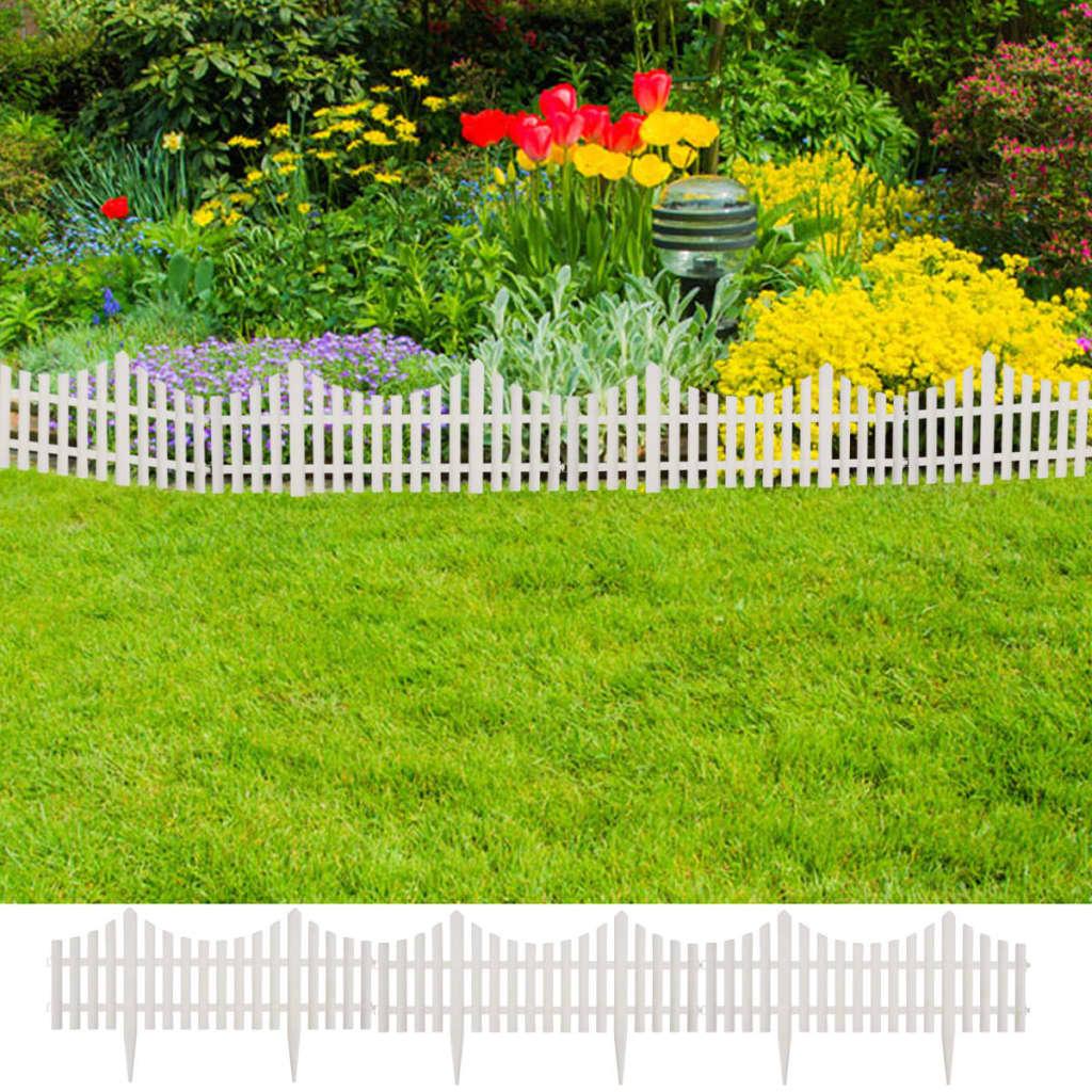 Witte tuinafscheiding 17 stuks-10 meter