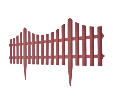 vidaXL 17 pcs Lawn Dividers 32.8 ft Brown[3/8]