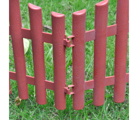 vidaXL 17 pcs Lawn Dividers 32.8 ft Brown[5/8]