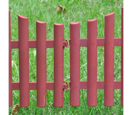 vidaXL 17 pcs Lawn Dividers 32.8 ft Brown[6/8]