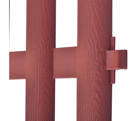 vidaXL 17 pcs Lawn Dividers 32.8 ft Brown[7/8]