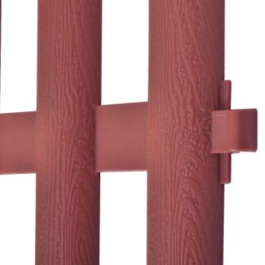 vidaXL 17 pcs Lawn Dividers 32.8 ft Brown[4/8]