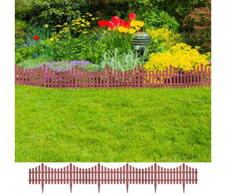 vidaXL 17 pcs Lawn Dividers 32.8 ft Brown[1/8]