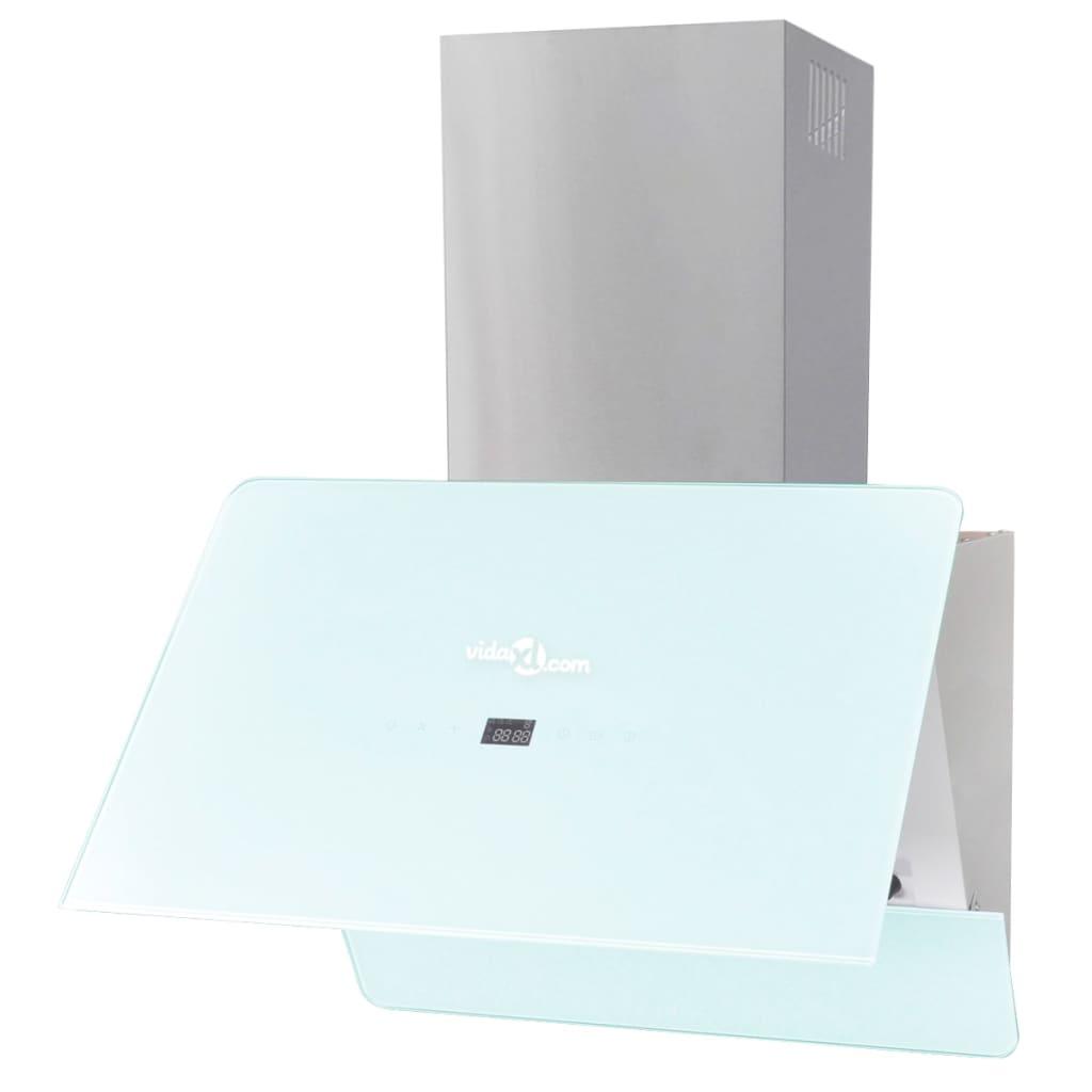 vidaXL Hotă de bucătărie din sticlă securizată, alb, 600 mm poza vidaxl.ro