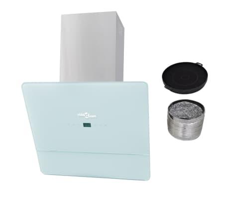 vidaXL Hotă de bucătărie din sticlă securizată, alb, 600 mm[6/12]