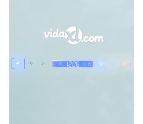 vidaXL Hotă de bucătărie din sticlă securizată, alb, 600 mm[9/12]