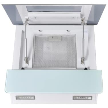 vidaXL Hotă de bucătărie din sticlă securizată, alb, 600 mm[7/12]