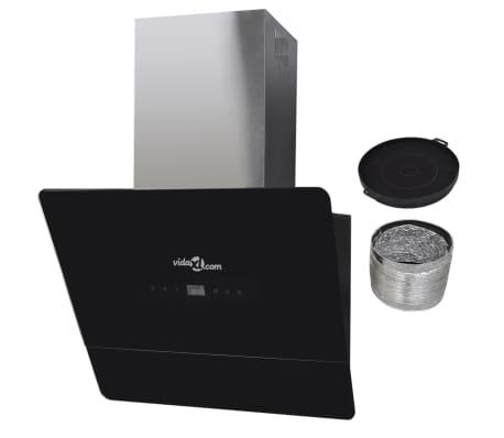 Afzuigkap van getemperd glas met display 600 mm (zwart)[11/13]