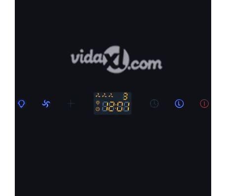 Afzuigkap van getemperd glas met display 600 mm (zwart)[10/13]