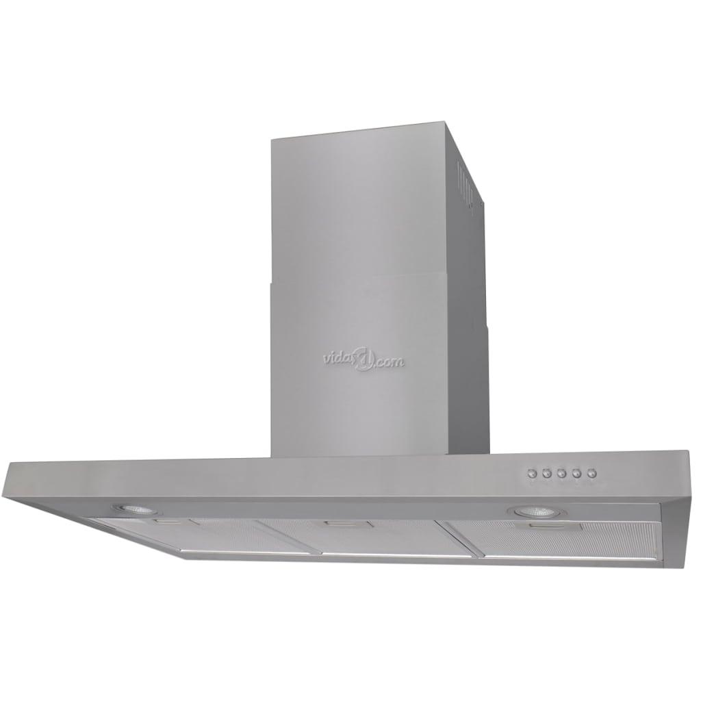 vidaXL Hotă de bucătărie, 900 mm, oțel inoxidabil, plat poza vidaxl.ro